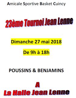 23ème TOURNOI JEAN LENNE