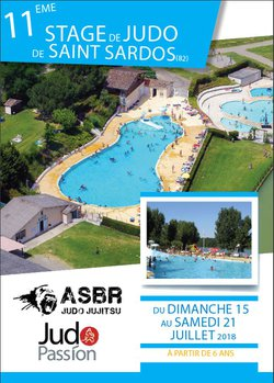 Stage Saint Sardos - 15 au 21 juillet (date limite pour l'inscription = 13 avril)