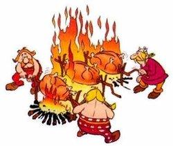 Fête à Laissac - Cochon grillé Aligot