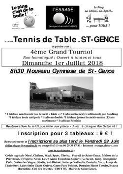 Préparation du Tournoi de SAINT GENCE du Dimanche 1er Juillet