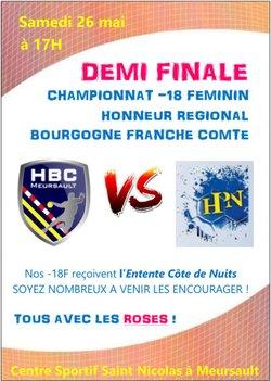 1/2 FINALE HONNEUR BOURGOGNE-FRANCHE COMTE