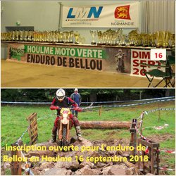 inscriptions ouverte pour l'enduro de Bellou en Houlme 2018