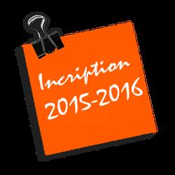 Inscriptions et vacances 2015 2016