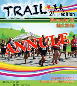 Annulation du Trail 2017