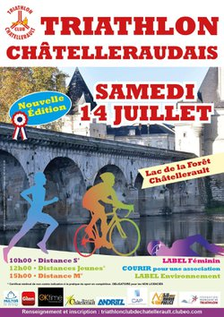 INSCRIPTIONS TRIATHLON DE CHATELLERAULT LE 14 JUILLET format S et M