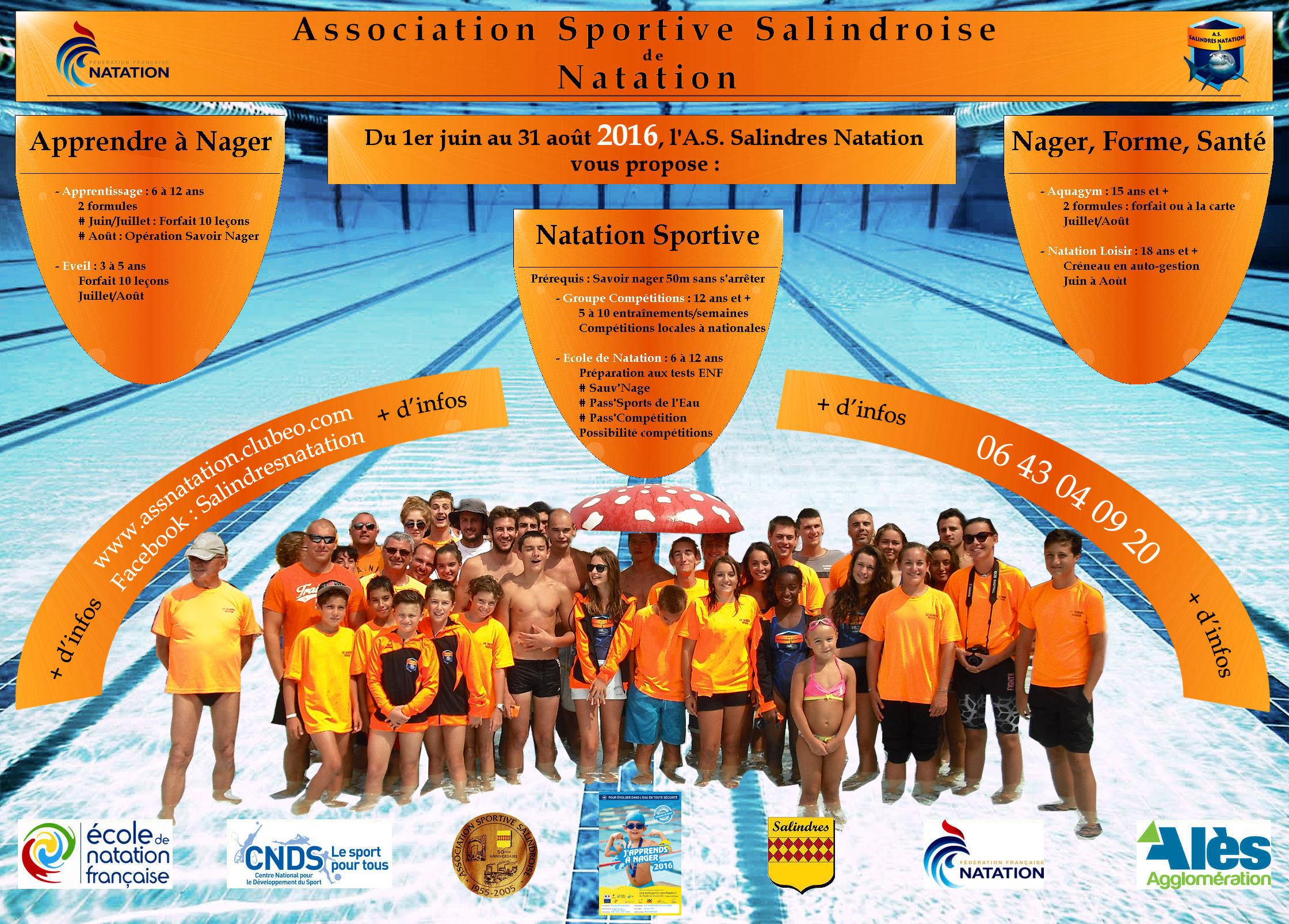 Association sportive salindroise de natation site officiel du club de natation de salindres for Piscine noisy le grand