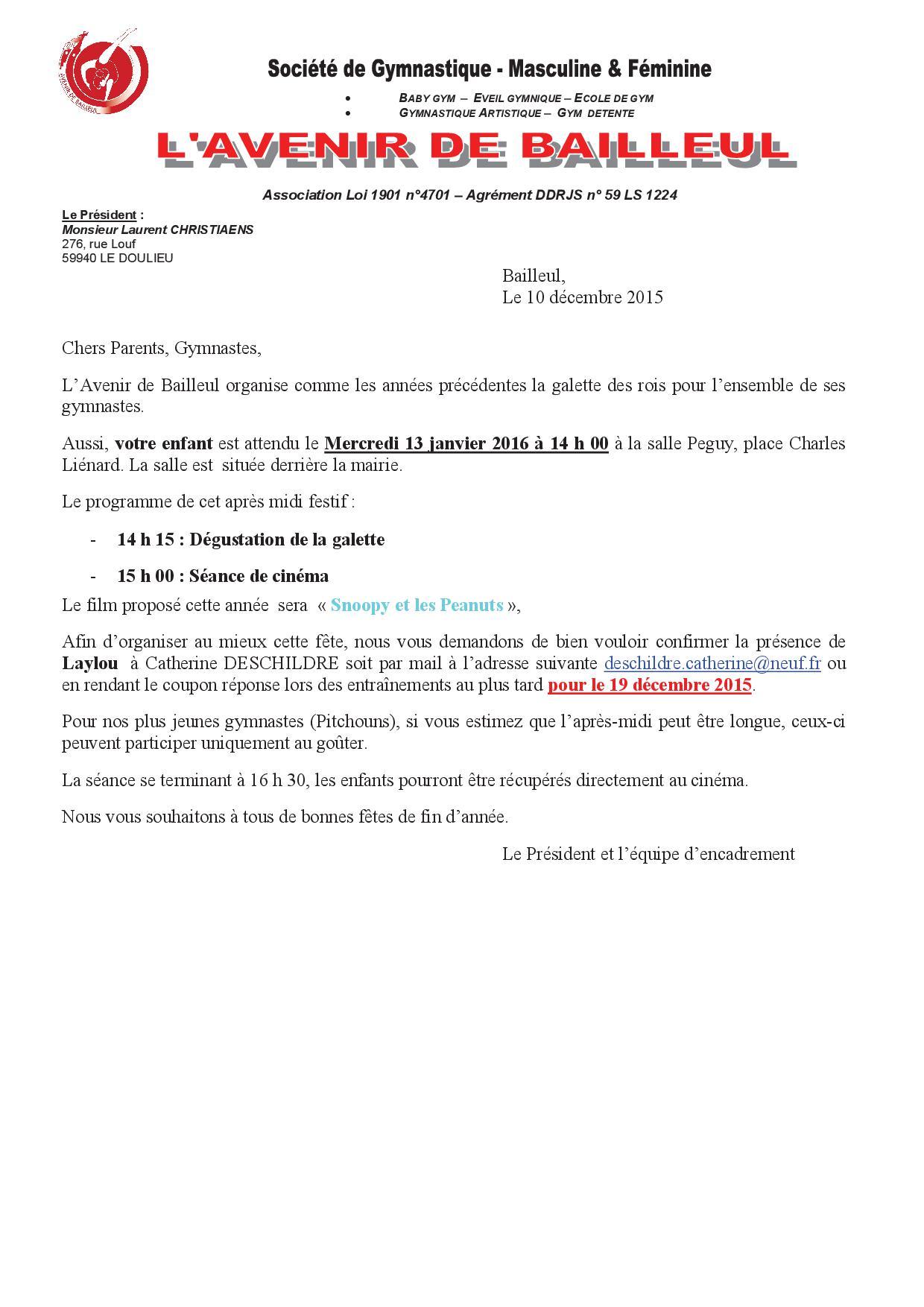 Information Galette