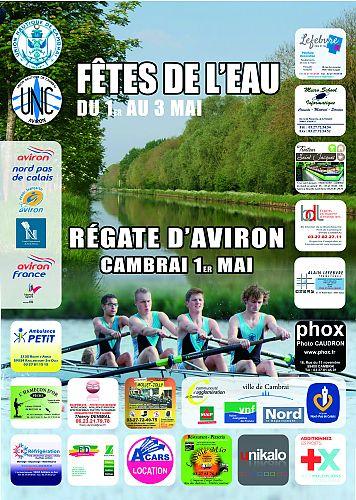 Affiche Régate Aviron Cambrai 2015