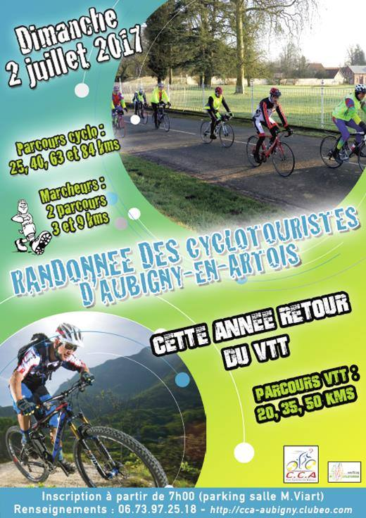 agenda aubigny en artois 2017 club cyclisme croisilles club cyclo vtt et p destre clubeo. Black Bedroom Furniture Sets. Home Design Ideas