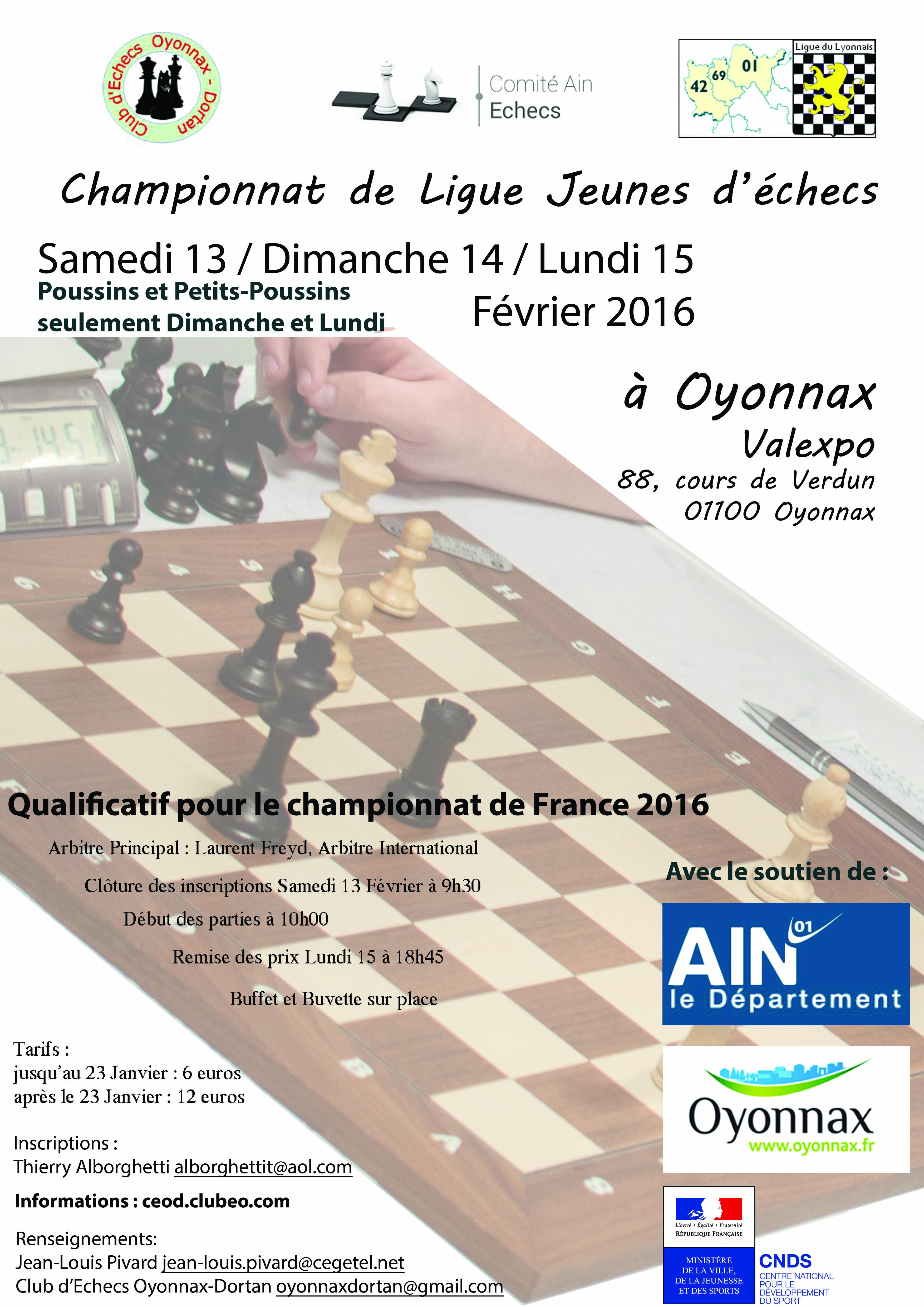 Affiche Cht Ligue Jeunes 2016