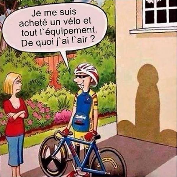 histoire drole cycliste