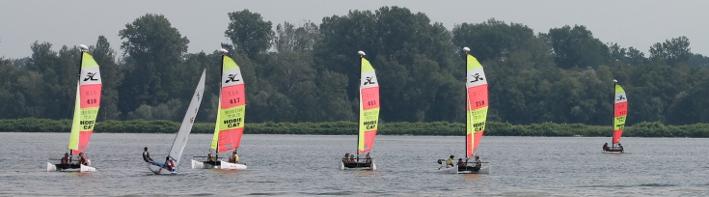 Catamarans et Dériveurs de l'Ecole de Voile de Strasbourg