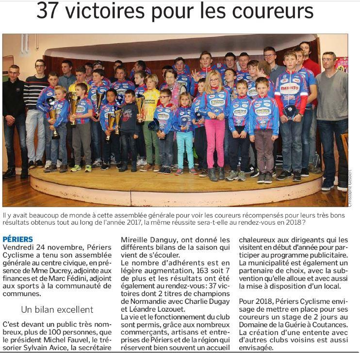 Article La Manche Libre -  AG vendredi 24 novembre 2017