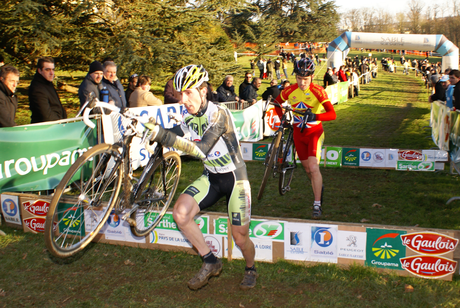 David Guest et Laurent Lecoeur au Cyclo-Cross de Sablé