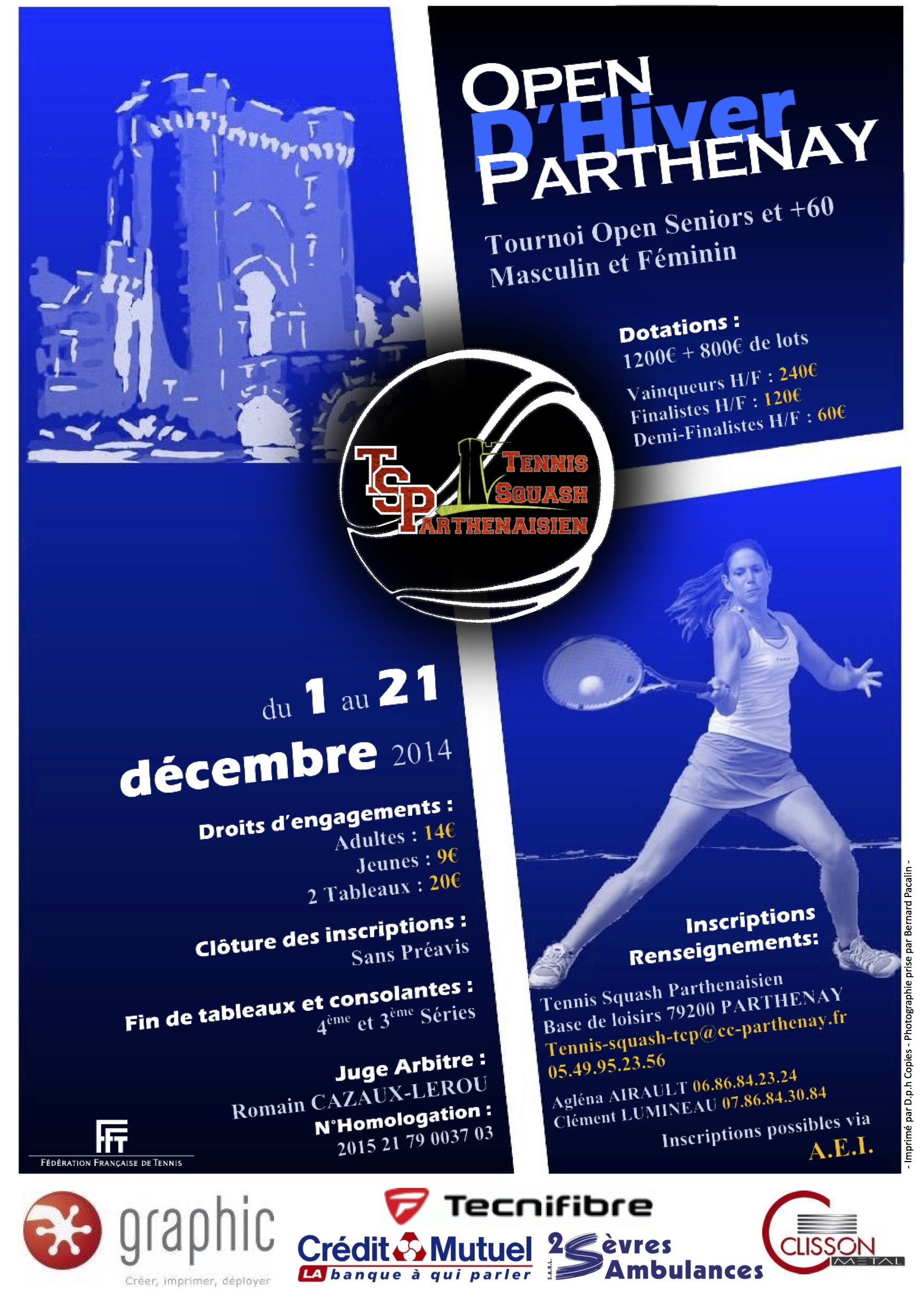 Affiche Tournoi Open Parthenay