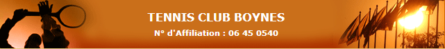 TC Boynes : site officiel du club de tennis de BOYNES - clubeo