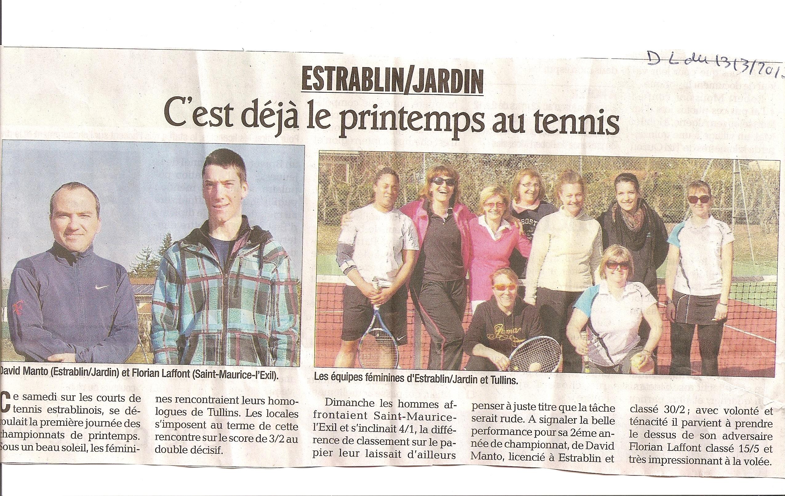 ARTICLE DAUPHINE CHAMPIONNATS 13 MARS 2013