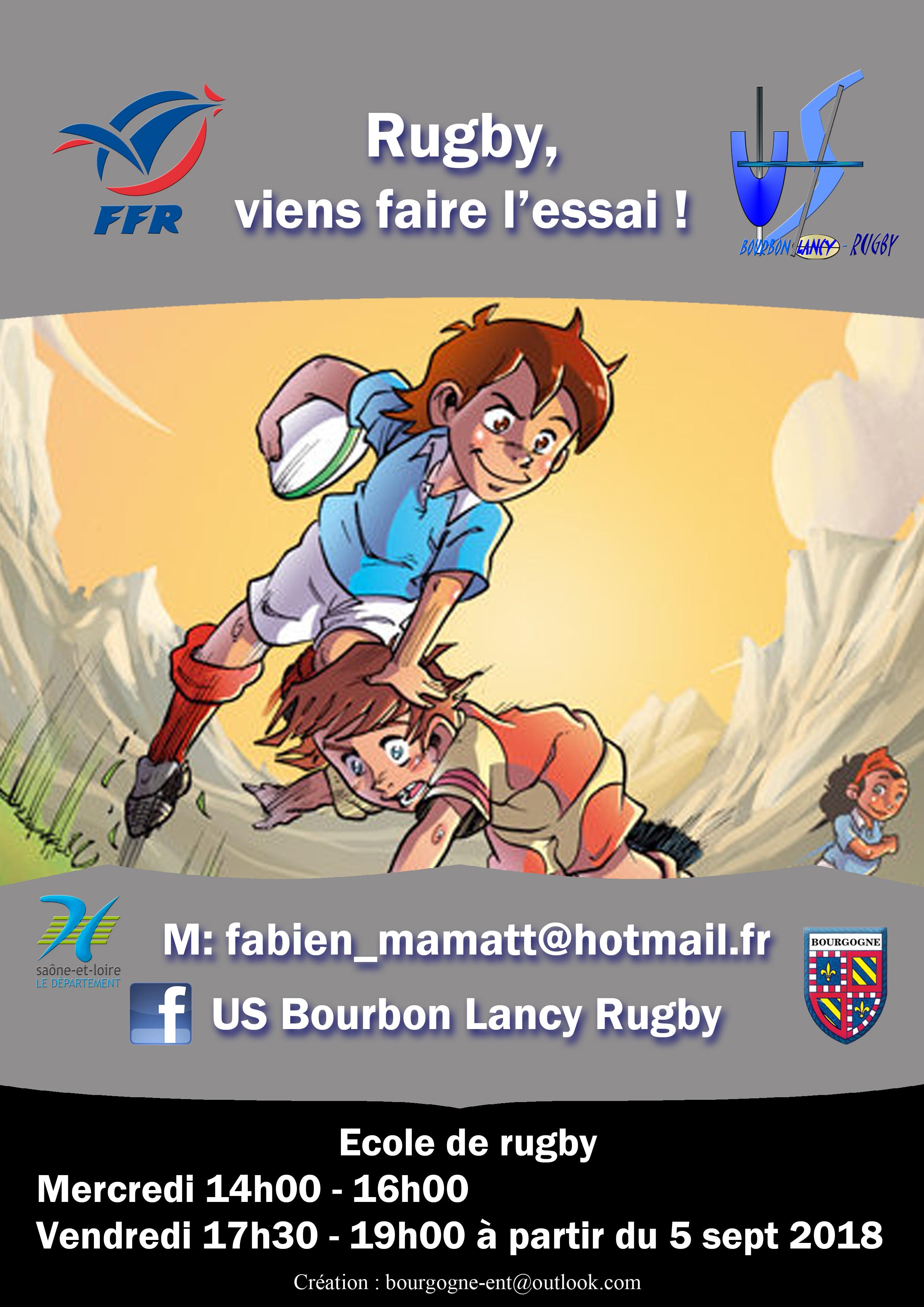 Ecole de rugby Bourbon-Lancy