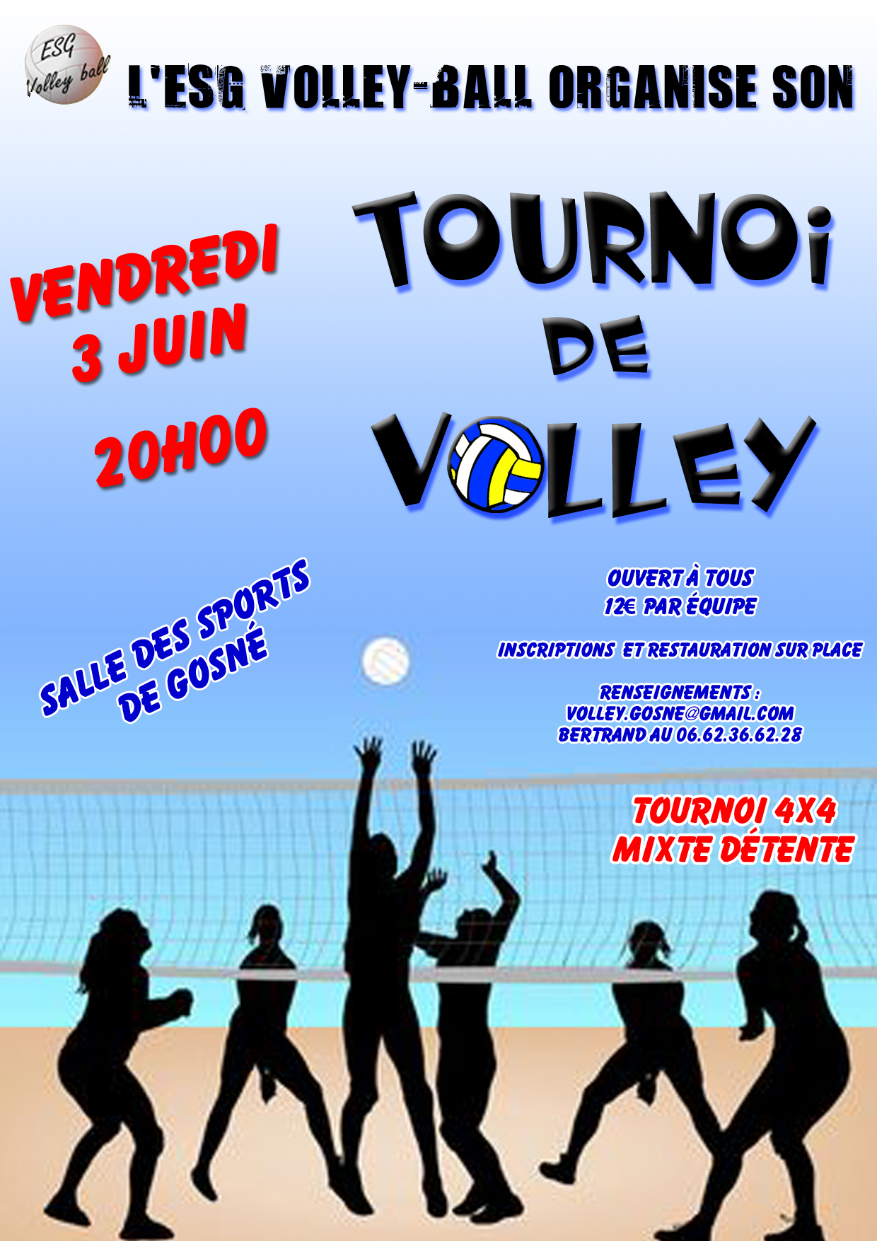 agenda - tournoi 4x4 senior mixte