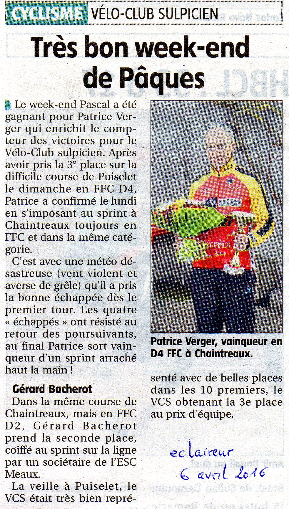 article eclaireur Patrice Verger