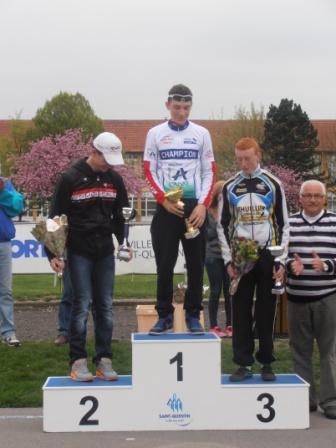 podium cadet championnat Aisne Piste