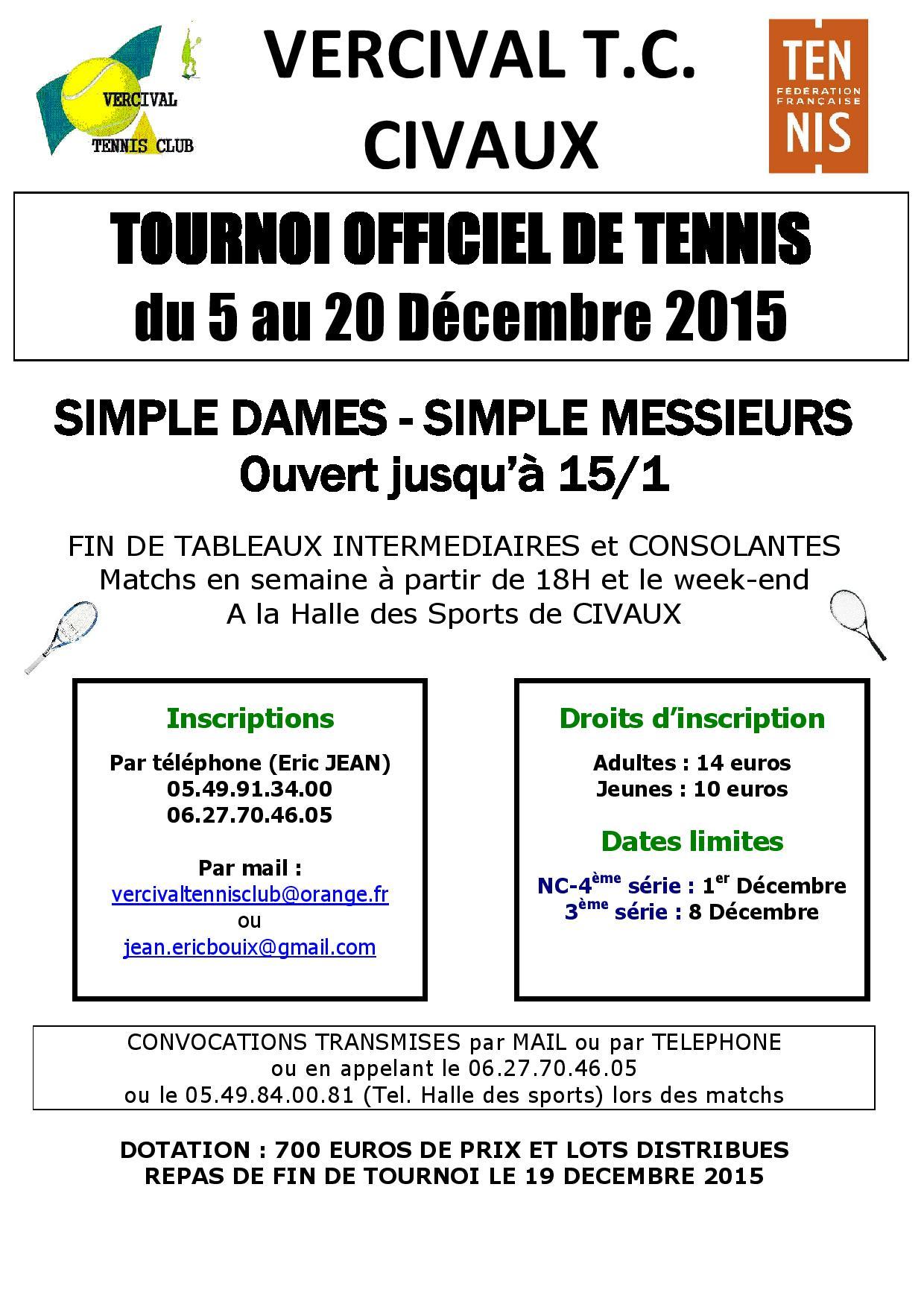 Affiche Tournoi Officiel Décembre 2015