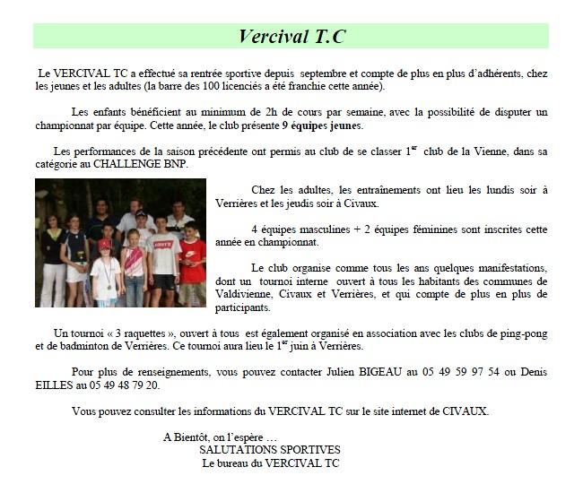 Bulletin municipal Civaux 2008