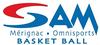 logo du club S.A.Mérignac Basket