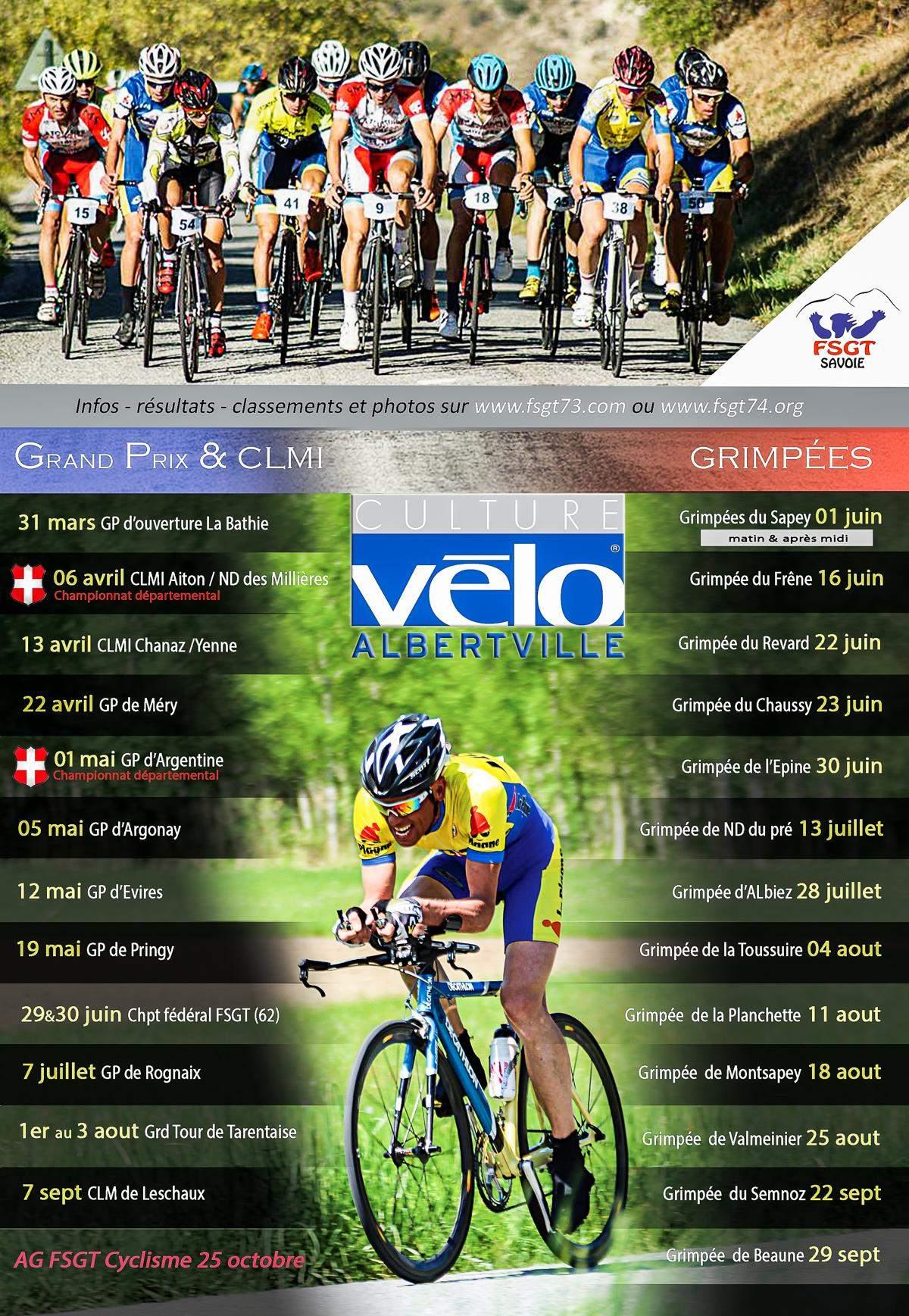 Calendrier Fsgt Cyclisme 2019.Actualite Calendrier Fsgt 73 2019 Club Cyclisme