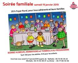 Soirée Famiale: 19 Janvier 2019