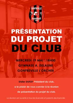 Présentation du projet du club