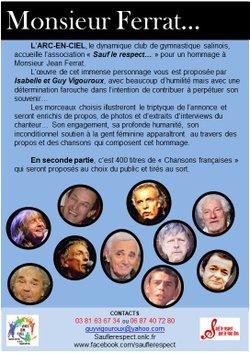 Concert pour l'Arc en Ciel: Monsieur Ferrat par Guy Vigouroux