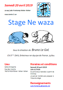 Stage ne waza - samedi 20 avril