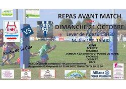 Réception de Villenouvelle 21/10/18 : repas + 2 matchs