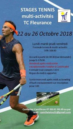 STAGE DU 22 AU 26 OCTOBRE 2018