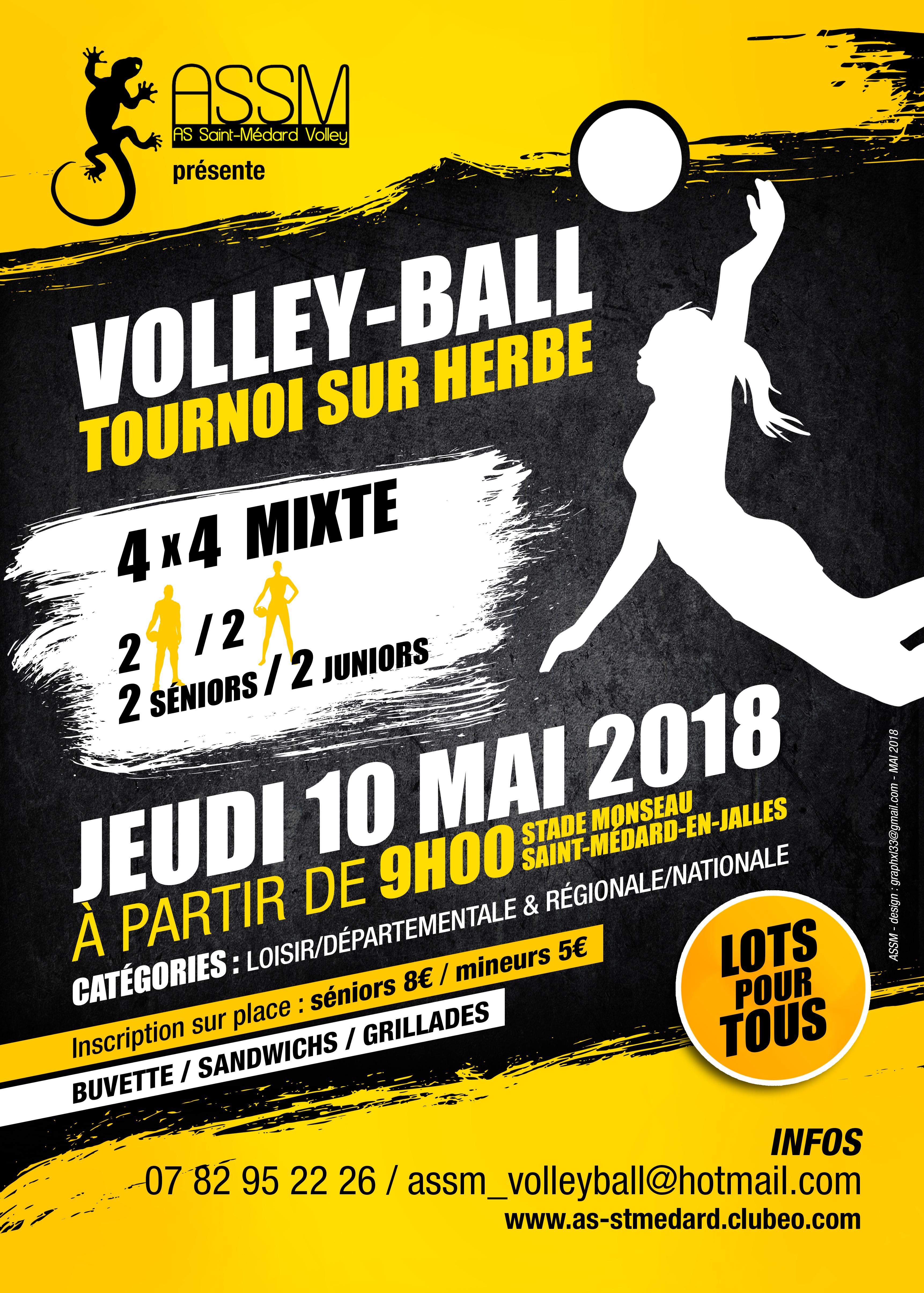 flyer tournoi volley du 10/05/2018