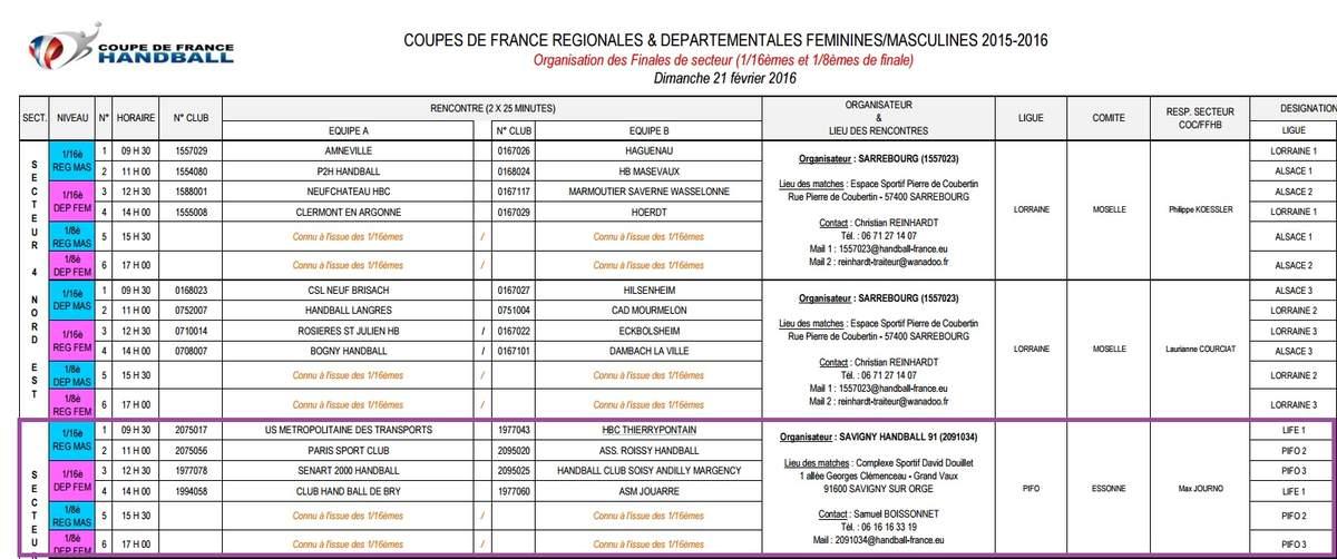 Actualit coupe de france tirage 16 me et 8 me de - 8eme de final coupe de france ...