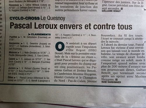 Pascal Leroux Le Quesnoy Cyclo cross