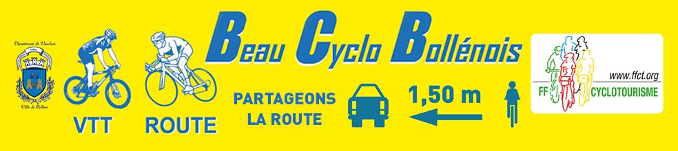 Beau Cyclo Bollenois : site officiel du club de cyclotourisme de Bollène - clubeo