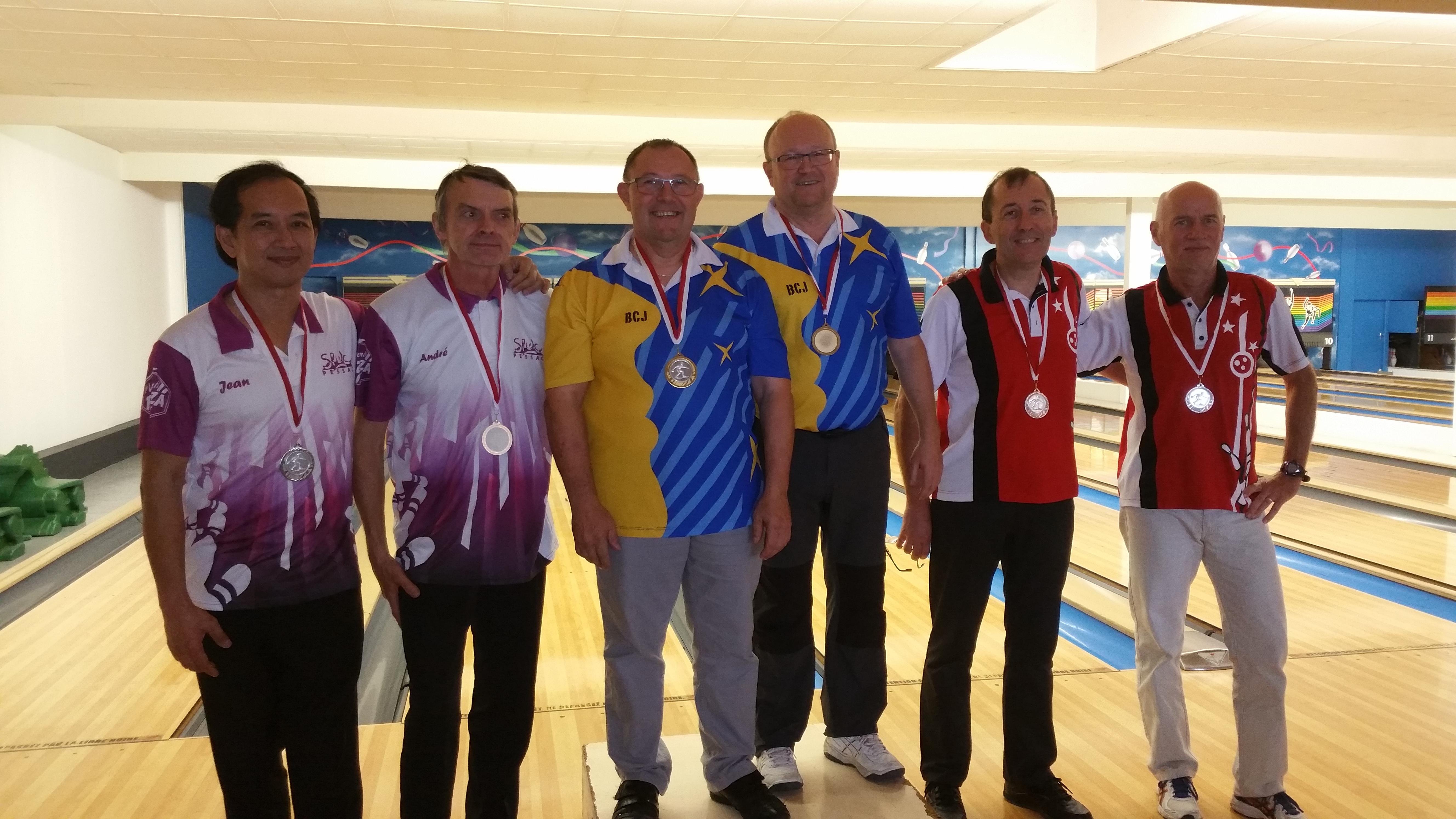 podium honneurs hommes
