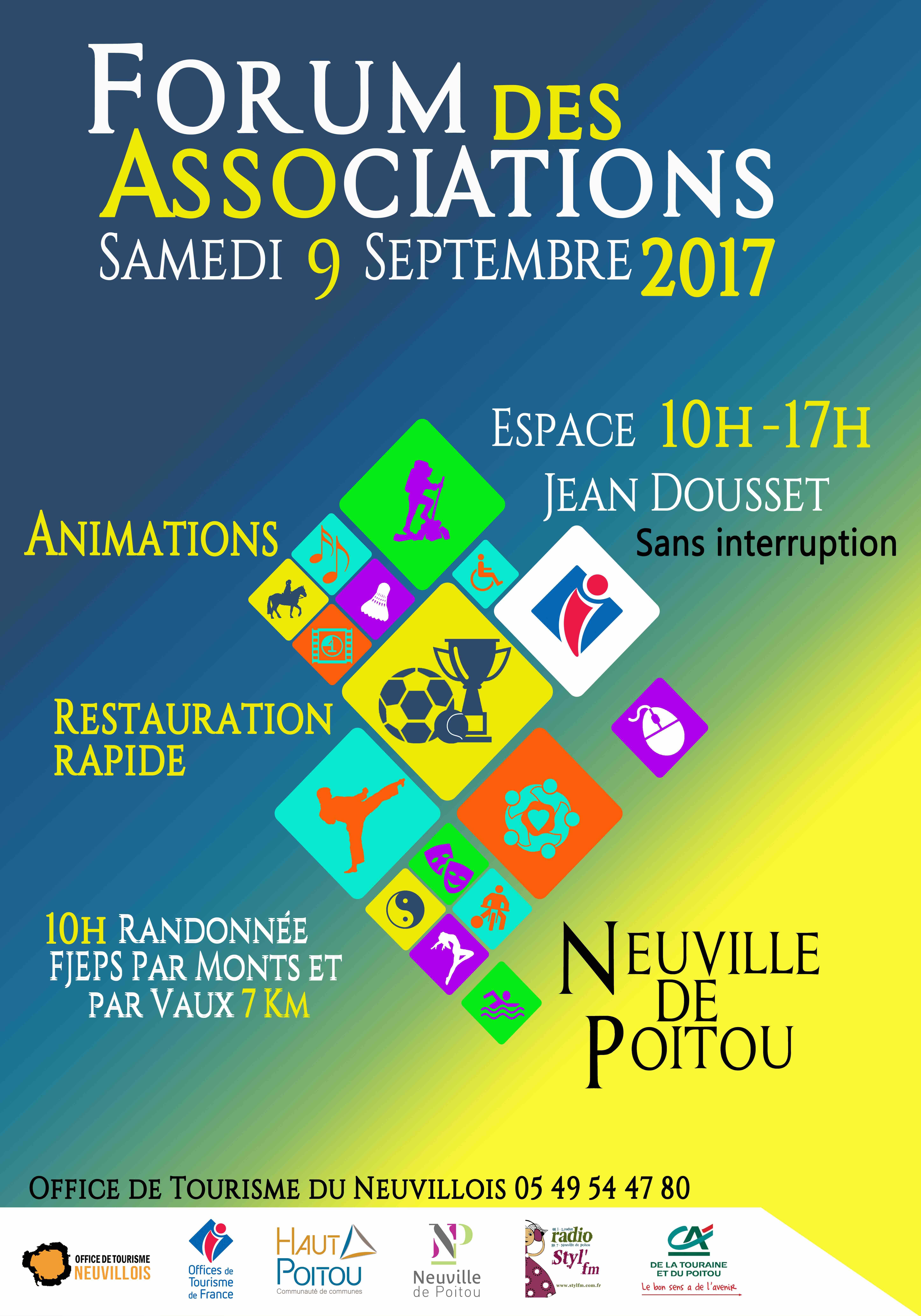 Affiche Forum Associations Neuville 9 septembre 2017