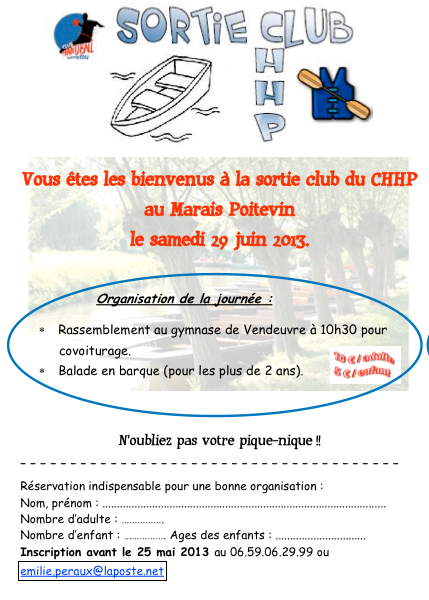 Sortie CHHP 29 juin Marais Poitevin
