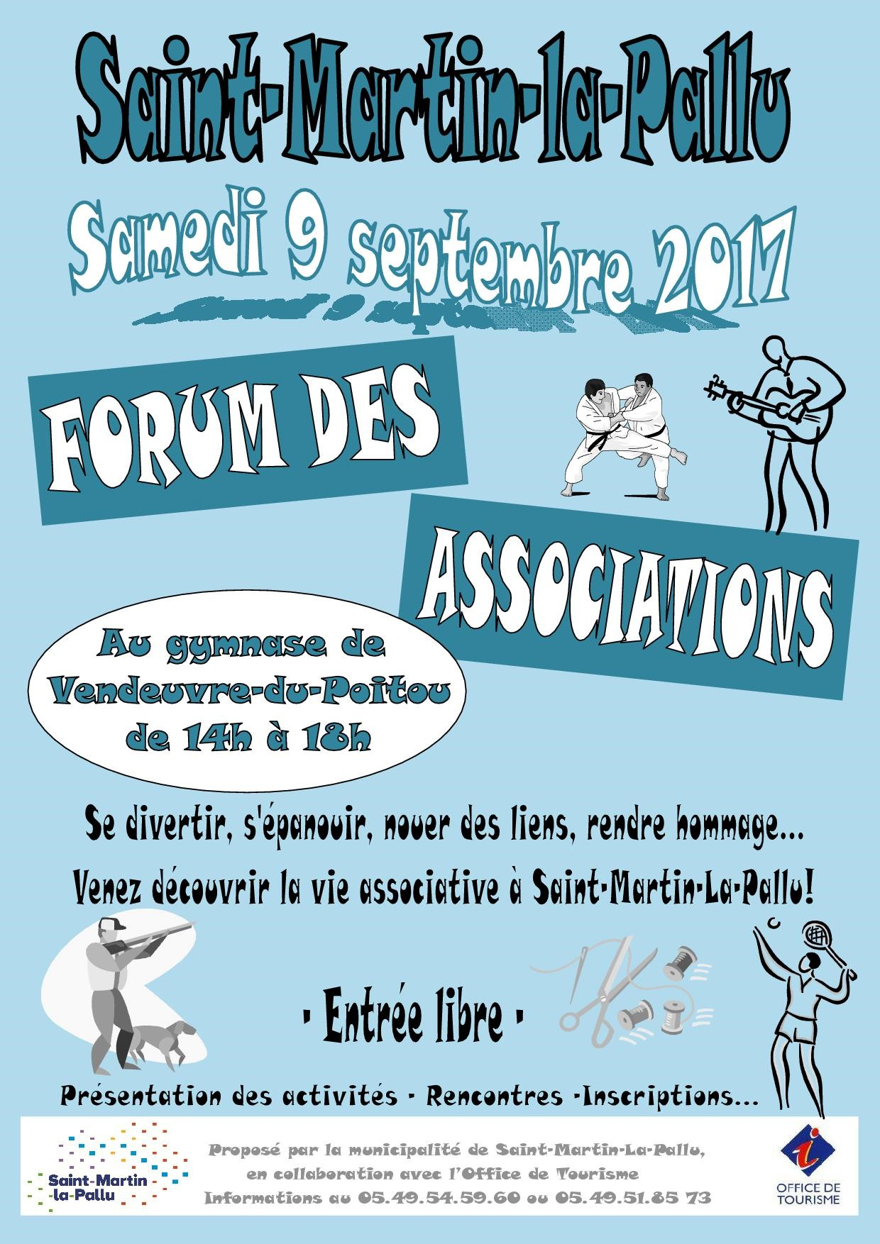 Affiche forum associations St Martin la Pallu 9 septembre 2017