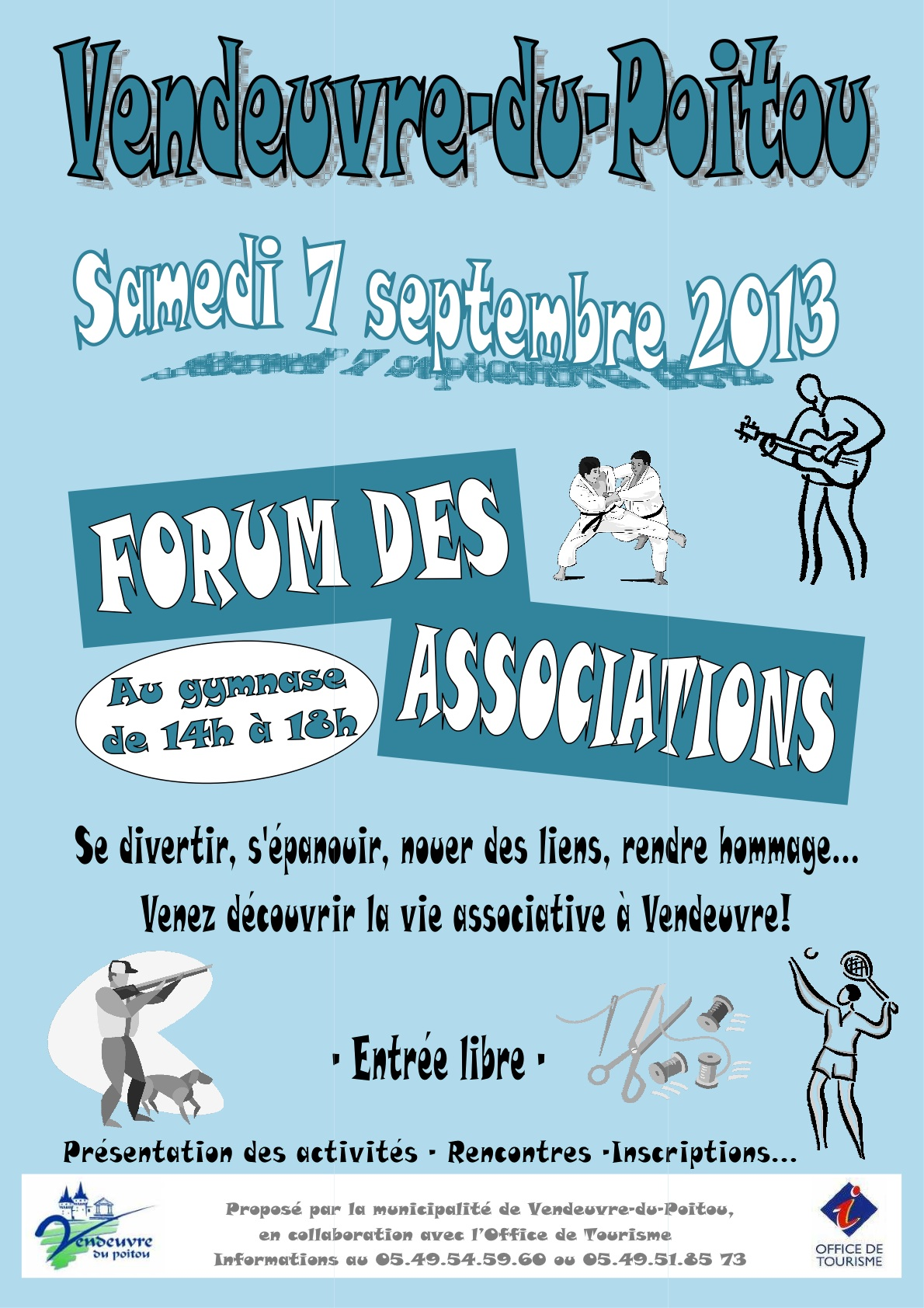 affiche forum Associations Vendeuvre 7 septembre 2013