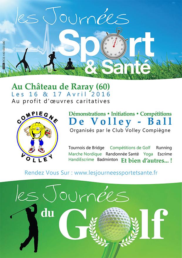 affiche journées sport et santé volley