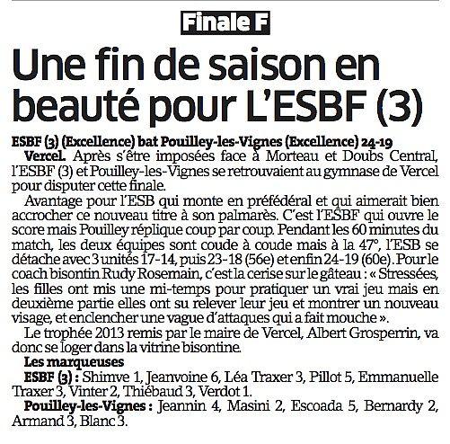 Finale Coupe du Doubs 2013