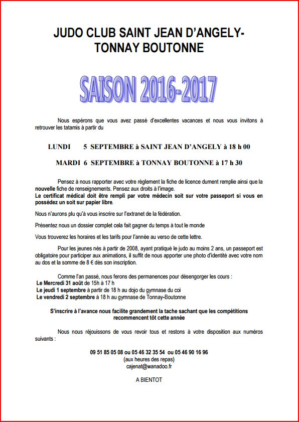 courrier inscription 2017