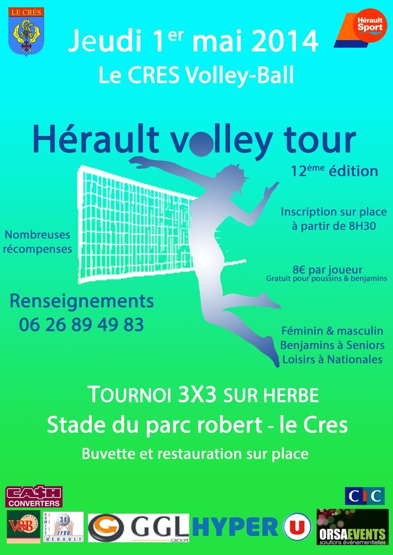 Tournoi 3x3 Volley Le Crès
