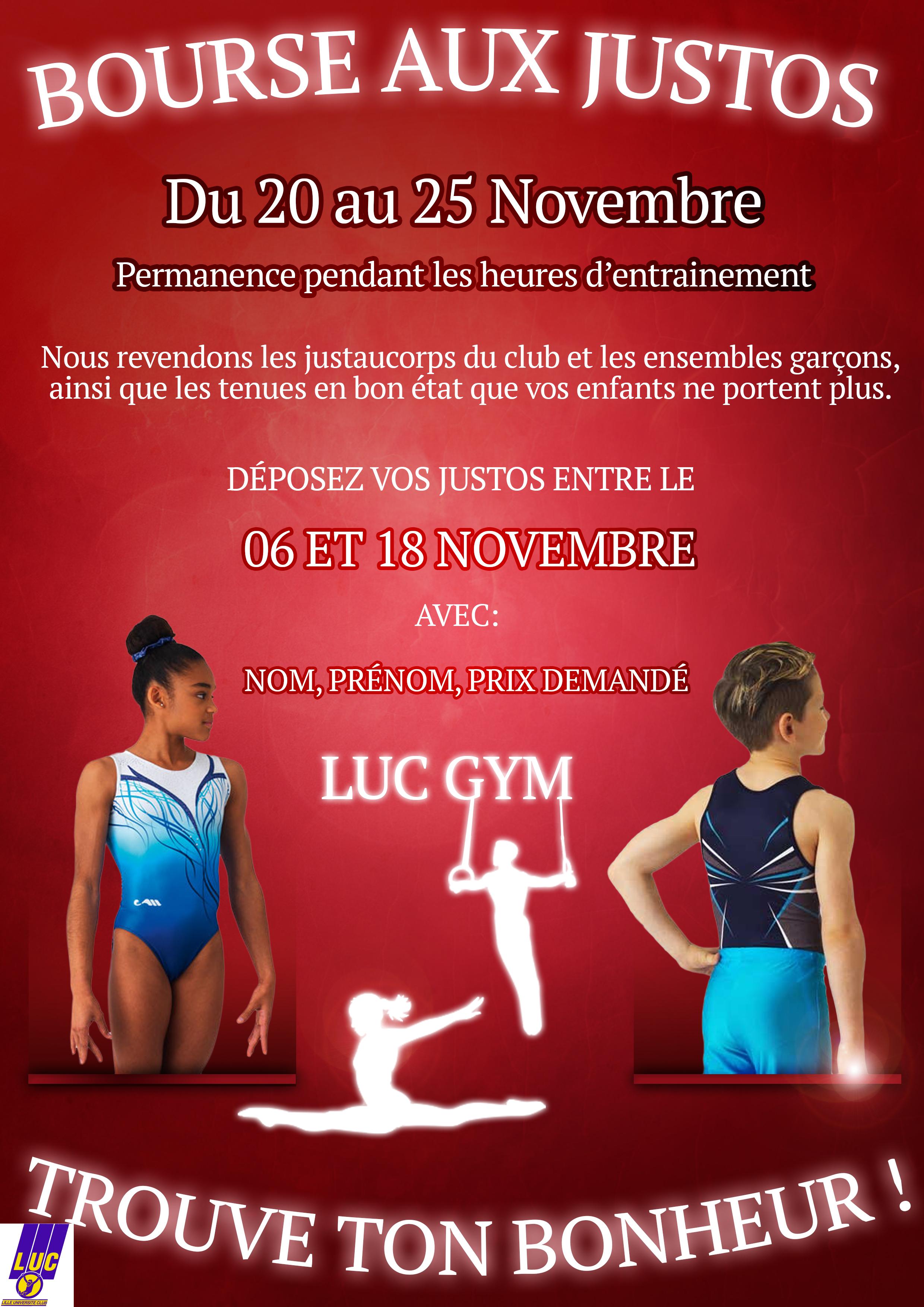 Bourse aux justos LUC GYM