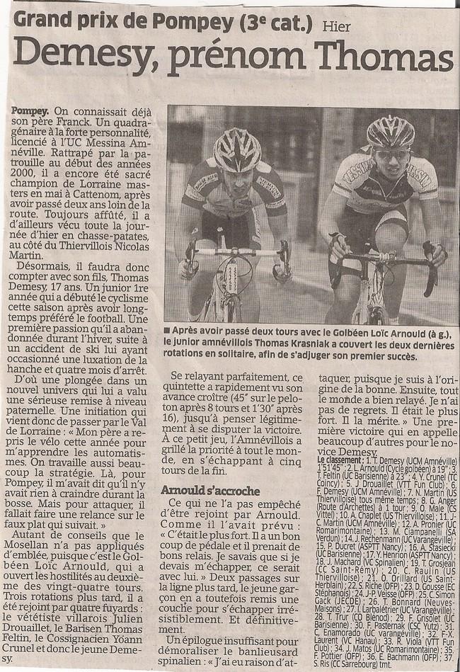 Article de Journal Du 15 Juillet 2011